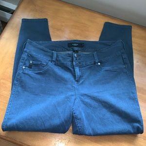 Torrid Plus Size 18 R Denim Jeans Pants Bottoms Button Blue